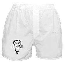 Lacrosse Defend Head Black Boxer Shorts