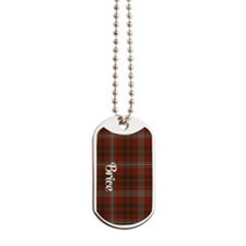 Brice Tartan Dog Tags