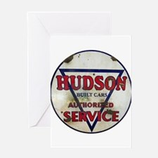 Hudson Service Sign Greeting Cards
