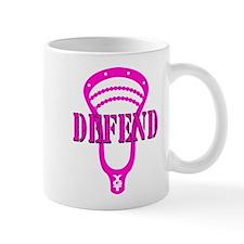 Lacrosse Defend Head Pink Mug