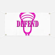 Lacrosse Defend Head Pink Banner