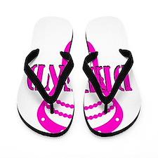 Lacrosse Defend Head Pink Flip Flops