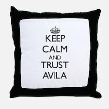 Keep calm and Trust Avila Throw Pillow