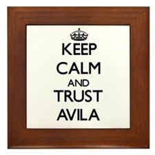 Keep calm and Trust Avila Framed Tile