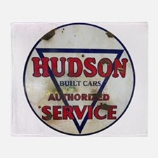Hudson Service Sign Throw Blanket