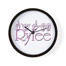 Rylee in ASL Wall Clock