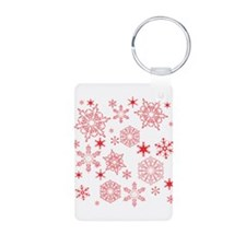 Rosy Snowflakes Keychains
