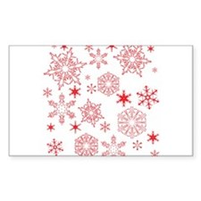 Rosy Snowflakes Decal