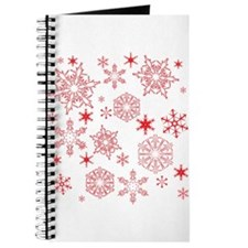 Rosy Snowflakes Journal