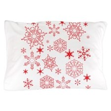 Rosy Snowflakes Pillow Case