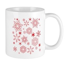 Rosy Snowflakes Mugs