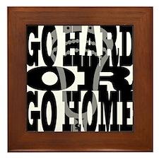 Lacrosse GoHardOrGoHome Framed Tile