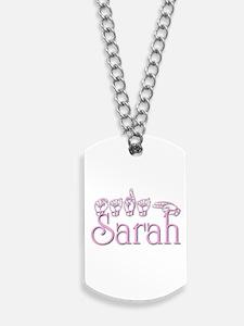 Sarah in ASL Dog Tags
