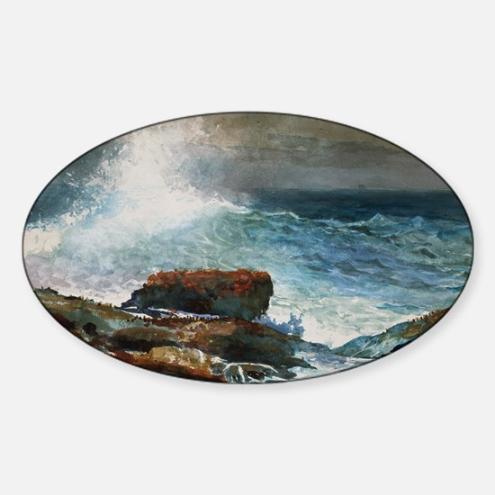 Winslow Homer - Incoming Tide, Scar Sticker (Oval)