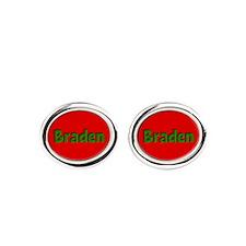 Braden Red and Green Cufflinks