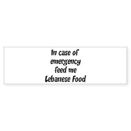 Feed me Lebanese Food Bumper Sticker