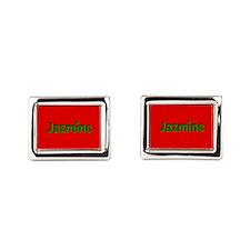 Jazmine Red and Green Cufflinks
