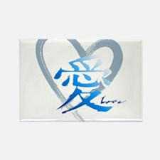 chinese heart Rectangle Magnet