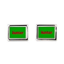 Hunter Green and Red Cufflinks