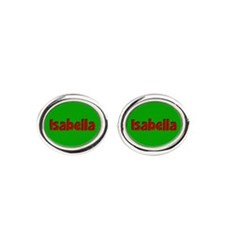 Isabella Green and Red Cufflinks