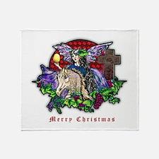 Christmas Fantasy Art Throw Blanket