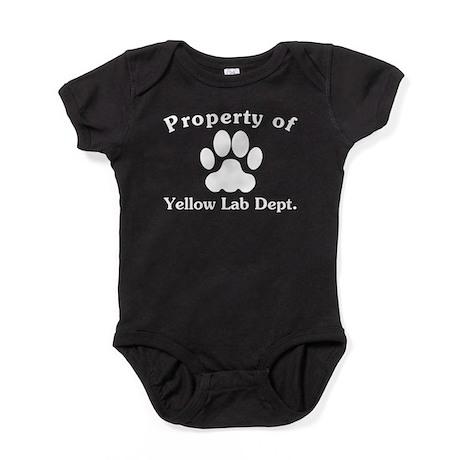 Property Of Yellow Lab Dept Baby Bodysuit