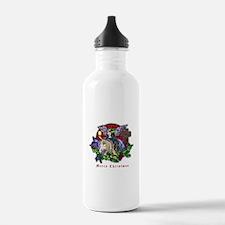 Christmas Fantasy Art Water Bottle