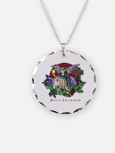 Christmas Fantasy Art Necklace