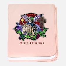 Christmas Fantasy Art baby blanket