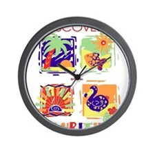 discover mauritius Wall Clock