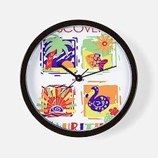 discover mauritius Wall Clock