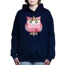 Pink Gypsy Owl Hooded Sweatshirt