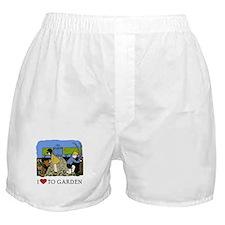 I Love to Garden Boxer Shorts