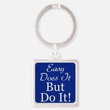 Just Do It Square Keychain