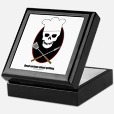 Dead serious about grilling Keepsake Box