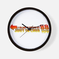 I Always Drive at 88MPH Wall Clock
