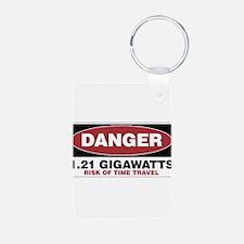 Danger 1.21 Gigawatts Keychains