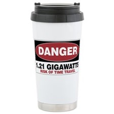 Danger 1.21 Gigawatts Travel Coffee Mug