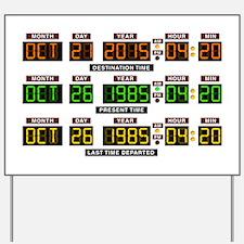 BTTF Time Clock Yard Sign