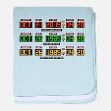 BTTF Time Clock baby blanket