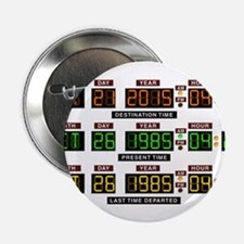 """BTTF Time Clock 2.25"""" Button (100 pack)"""
