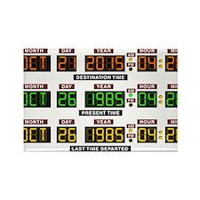 BTTF Time Clock Rectangle Magnet