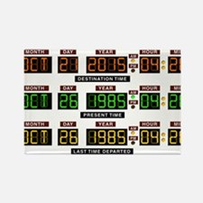 BTTF Time Clock Rectangle Magnet