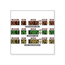 "BTTF Time Clock Square Sticker 3"" x 3"""