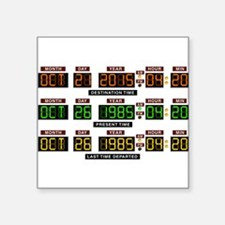 "BTTF Time Clock Square Sticker 3"" x 3"""
