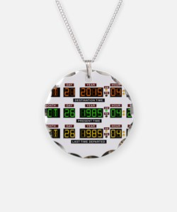 BTTF Time Clock Necklace