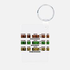 BTTF Time Clock Keychains