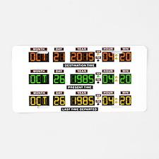 BTTF Time Clock Aluminum License Plate
