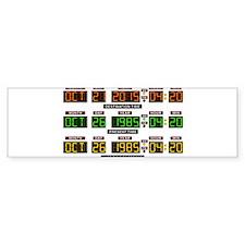 BTTF Time Clock Bumper Sticker