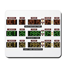 BTTF Time Clock Mousepad